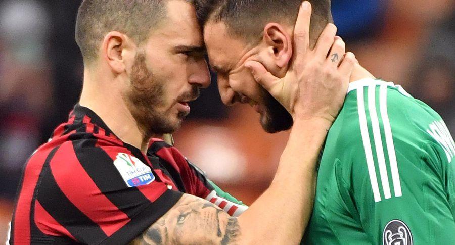Вратарь Доннарумма расплакался из-за обидного плаката отфанатов «Милана»