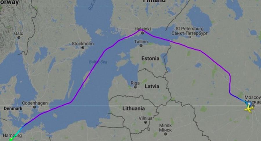 ВКремле прокомментировали информацию омаршруте полета В. Путина вГамбург