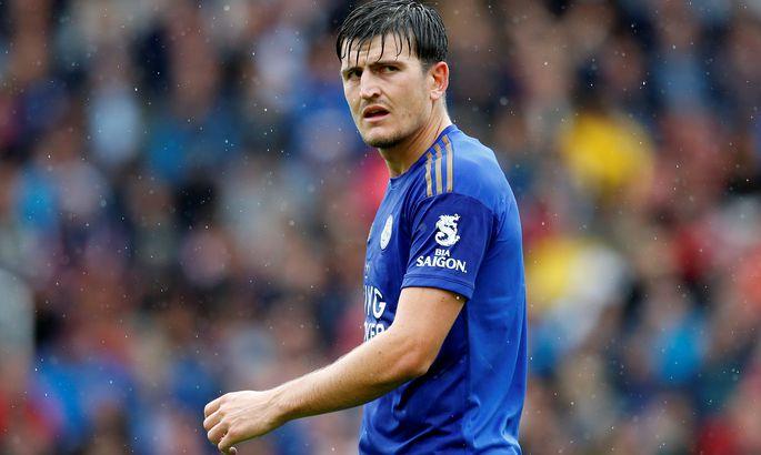 Action Images via ReutersМанчестер Юнайтед намерен приoбрести защитника Лестера Харри Магуайра