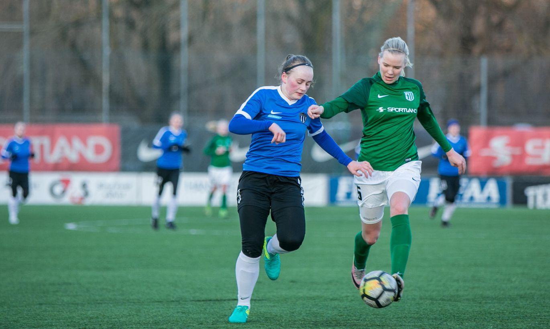Naiste jalgpalli meistriliigas näeb liidrite lahingut