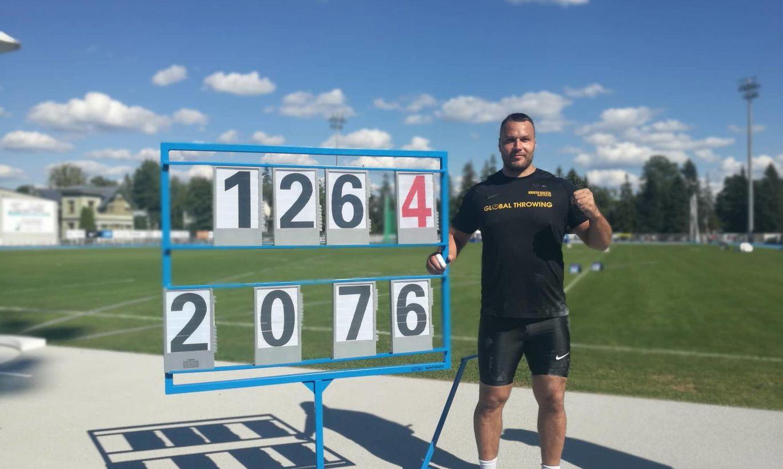 Kristo Galeta tõukas uue Eesti rekordiga pääsu tiitlivõistlustele