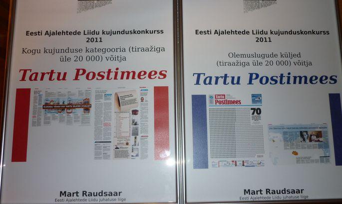 5f4e8afa768 FOTO: TPM. Eesti 2011. aasta ajakirjanduspreemiate jagamisel sai Tartu  Postimees ...