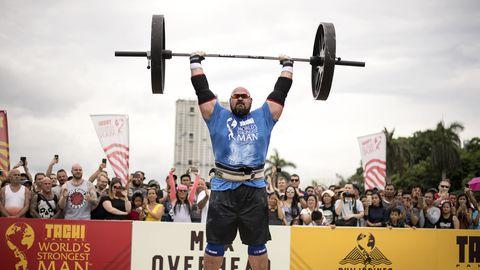 Brian Shaw maailma tugevaima mehe võistlustel Manilas 2018. aastal.