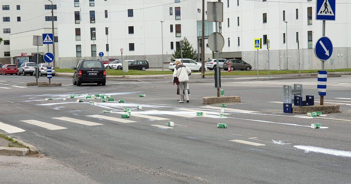 Mai tänava ristmikku tabas keefiriuputus