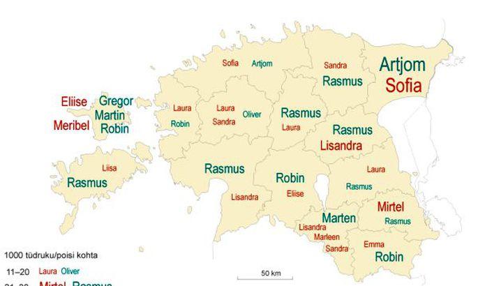 4844c705a54 W3 uudised - Vaadake, millised eesnimed on populaarsemad Pärnumaal