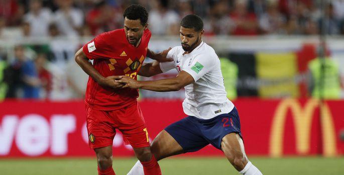 7511f553e7a Inglismaa ja Belgia vaheline alagrupimäng 2018. aasta MM-finaalturniiril.    FOTO: SGSAN / ZUMAPRESS.com / MEGA