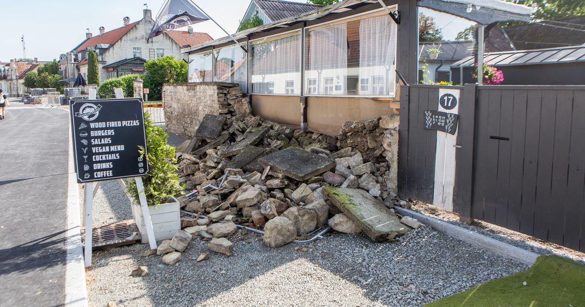 FOTOD: Saaremaakera kiviaed varises kokku