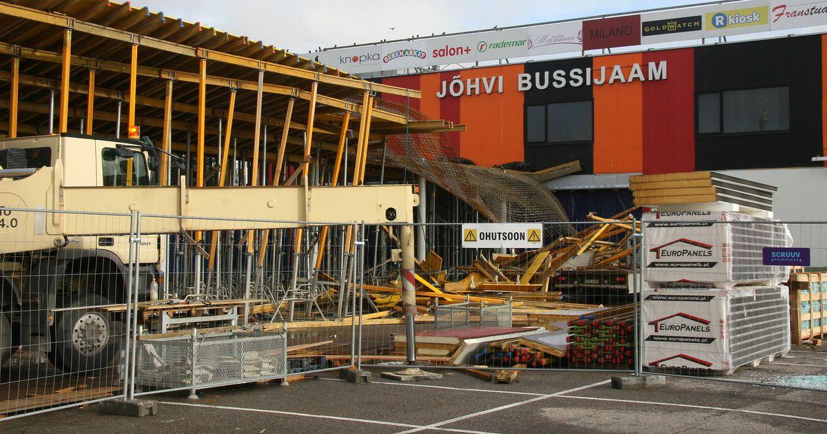 Jõhvi bussijaama varikatuse varingus sai kannatada kaks ehitajat
