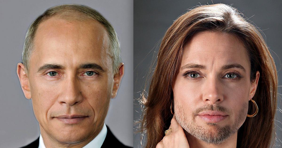 Лица двух известных людей соединены в одной фотографии назовите обоих