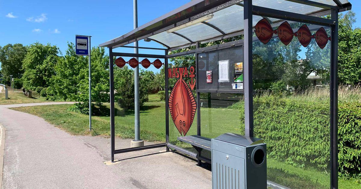 9926e875671 Nasva bussipeatusi kaunistavad lestakalad - Uudis.eu