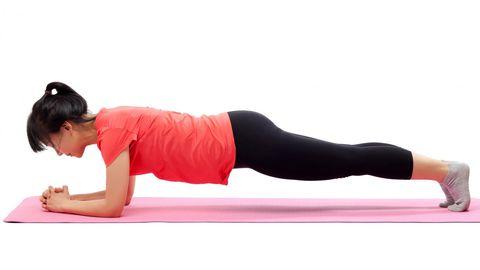 Plank-asend tugevdab lihaseid.