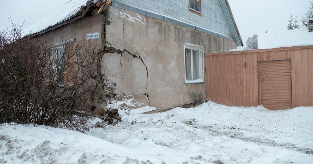 Holstres sõitis suur veok majja