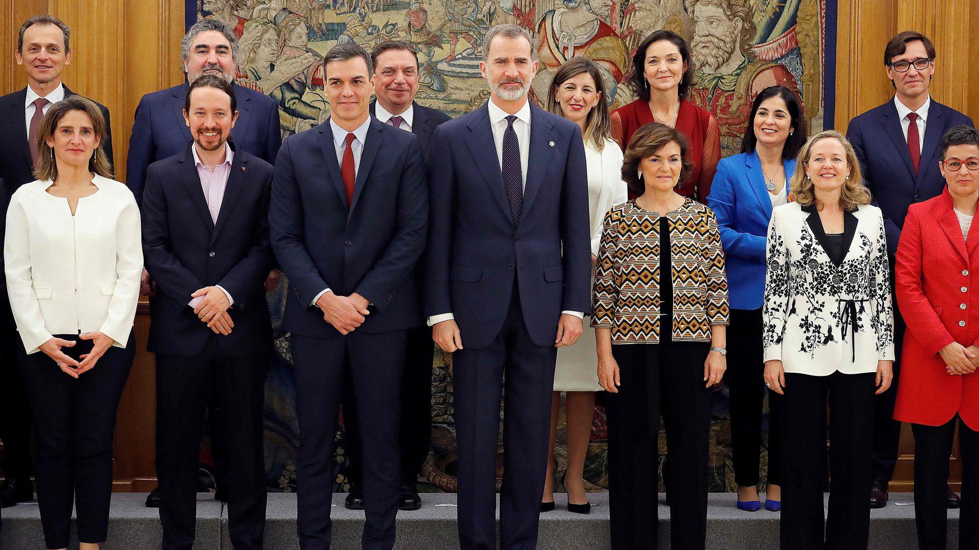 Hispaania uue koalitsioonivalitsuse liikmed andsid ametivande: