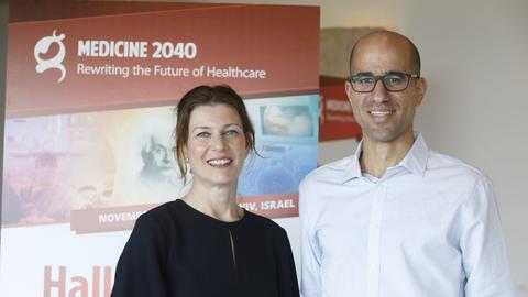Shiri Aviel (vasakul) ja Tal Agami terviseinnovatsiooni konverentsil Tel Avivis, kus õnnestus ajakirjanikul neid ka intervjueerida.